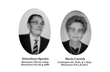 Busciano Giorno del Ricordo- a Memoria di Sebastiano Sposito e Maria Carcich
