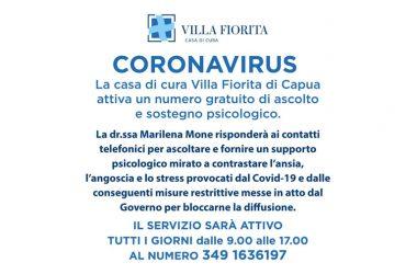 CORONAVIRUS, BOOM DI CHIAMATE  AL NUMERO DI ASCOLTO E SOSTEGNO PSICOLOGICO.