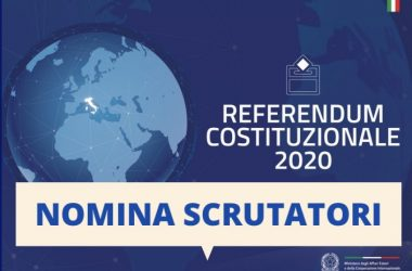Cancello ed Arnone – Referendum 29.03.2020: priorità a studenti, disoccupati ed inoccupati nell'assegnazione degli incarichi da scrutatori.