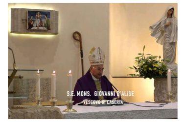 """Il messaggio augurale del Vescovo Giovanni D'Alise alla Comunità """"Villaggio dei Ragazzi""""."""