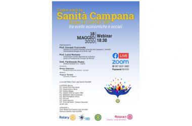 """Rotary Caserta Lugi Vanvitelli, service da remoto: """"La sanità in Campania dopo il coronavirus tra scelte economiche e sociali""""."""