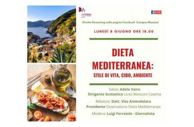 Evento streaming – Dieta Mediterranea: stile di vita, cibo, ambiente
