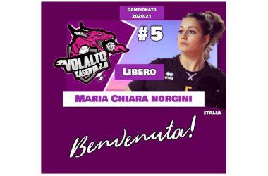 Maria Chiara Norgini, 22 anni di Foligno è uno dei 2 liberi della Volalto 2.0 Caserta