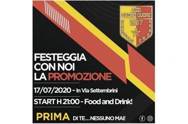 Sacro Cuore C.A., festa promozione con i tifosi per la Prima Categoria