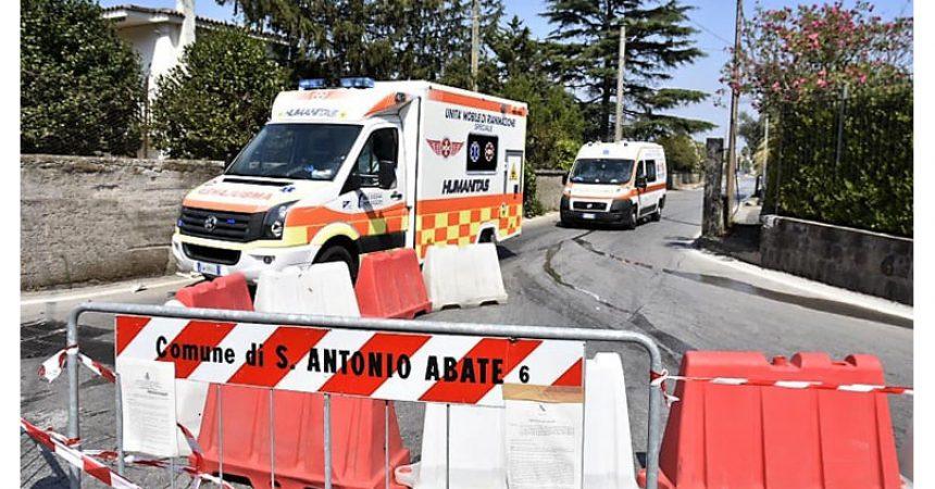 Oggetto –Covid-19: Humanitas in 'zona rossa'  Sant'Antonio Abate. Stamattina trasportati due pazienti al  'Cotugno'