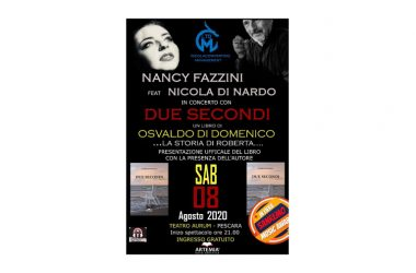 """Nancy Fazzini e Nicola di Nardo in concerto con """"due secondi"""" un disco scritto per raccontare il libro di Osvaldo di Domenico."""