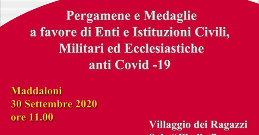 Maddaloni, in città il 30 settembre si rende omaggio alle istituzioni impegnate in tempo di Covid-19