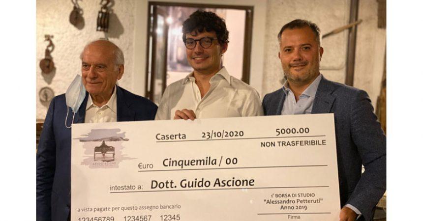 A GUIDO ASCIONE LA PRIMA BORSA DI STUDIO ALESSANDRO PETTERUTI