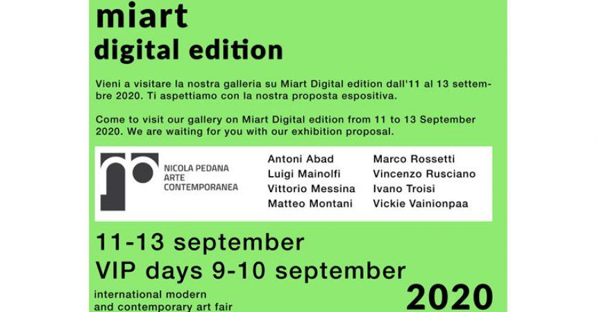 Galleria Nicola Pedana / Miart digital edition 11 – 13 September 2020
