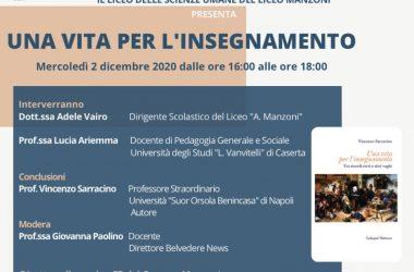 Il Campus Manzoni mercoledì alle 16 in diretta social:Vincenzo Saccarino ospite per le scienze umane