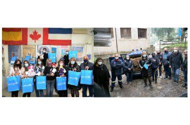 CRISI DA COVID-19 ASSOCIAZIONI PARTENOPEE UNICEF ED IMPRESE IN CAMPO DURANTE LE FESTIVITA'PER LA DONAZIONE DÌ GENERI ALIMENTARI GIOCHI E MASCHERINE