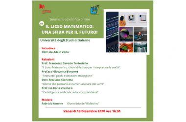Liceo Matematico: Una Sfida per il Futuro. Venerdì il seminario