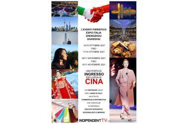 Nancy Fazzini volto e voce dell'EXPO in Cina per il made in Italy con Nicola Convertino