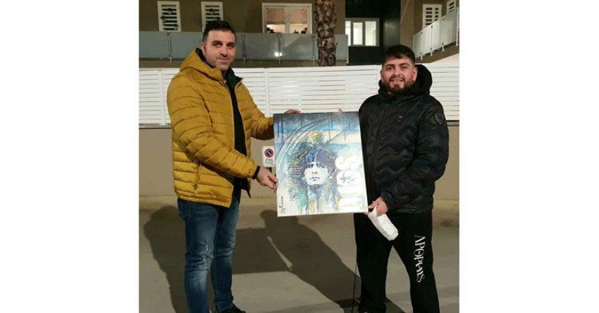 Brusciano Artista Pasquale Terracciano e Maradona Junior