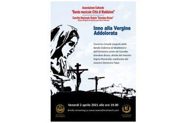 Maddaloni, Inno alla Vergine Addolorata, venerdì santo concerto della banda cittadina, il 2 aprile
