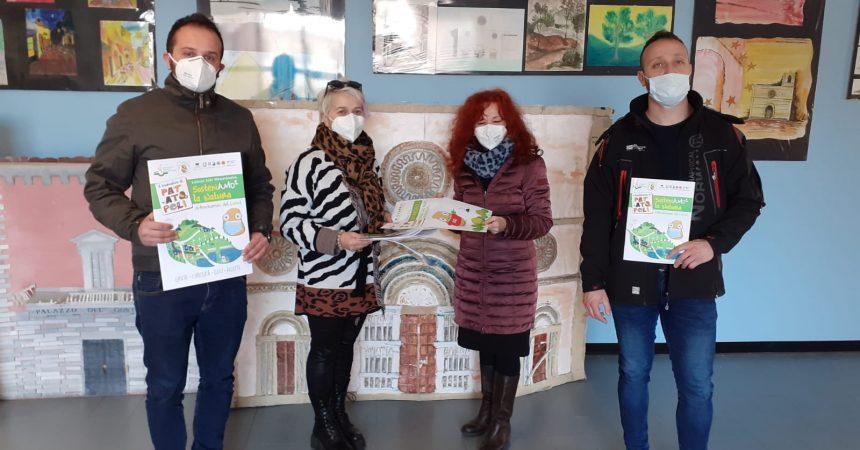 Quadernoni, giornalini, giochi didattici ai bambini delle Scuole Primarie dell'Istituto Comprensivo Dante Alighieri dell'Aquila.