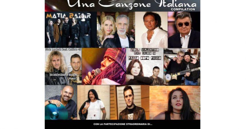 """Nancy Fazzini nel disco """"Una Canzone italiana"""" con i Matia  Bazar."""