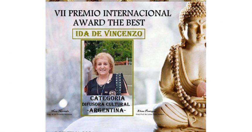 Premio Award The Best 2021,  para Ida De Vincenzo