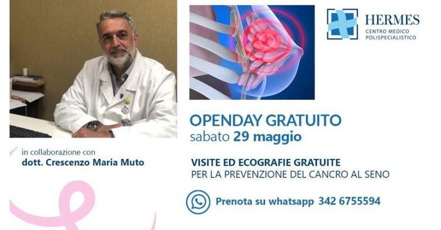 CANCRO AL SENO, OPEN DAY SABATO 29 AL CENTRO HERMES DI CASAGIOVE.
