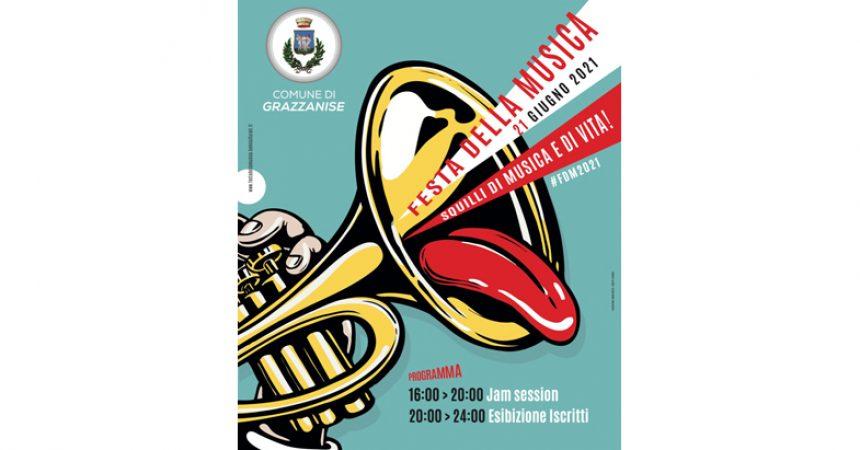 Grazzanise. Tutto pronto per la Festa della Musica. Lunedì 21 giugno 2021 fiato alle trombe.