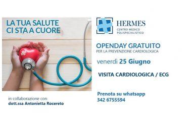 CARDIOLOGIA, OPEN DAY VENERDÌ 25 AL CENTRO HERMES DI CASAGIOVE.