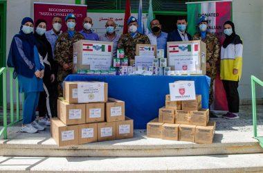 Donazioni in Libano di beni di prima necessità dell'Associazione Internazionale Regina Elena tramite i Caschi blu italiani del Nizza Cavalleria della missione UNIFIL