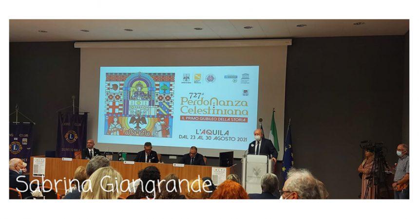 """Al Maestro Leonardo De  Amicis il premio """"La Croce di Celestino"""" del Lions Club  L'Aquila, per l'edizione 727 della  Perdonanza Celestiniana"""