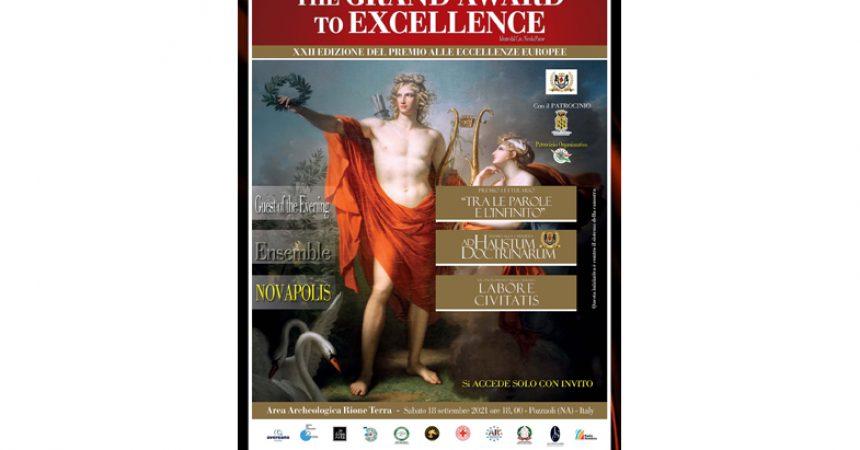 """The Grand Award to Excellence Premio alle Eccellenze Europee """"Tra le parole e l'infinito"""""""